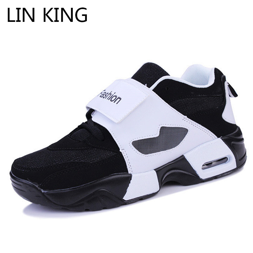 LIN KING Fashion Mixcolor Men Casual Shoes Thick Sole Wedges Height Increase Shoes Comfortable Outdoor Footwear Tenis Sneakers цены онлайн