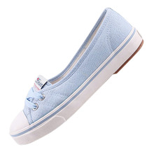 Горячая Продажа Весной и Летом Квартир Женщин Холст Обувь Женская Повседневная Обувь Марка Скольжения на Дышащая