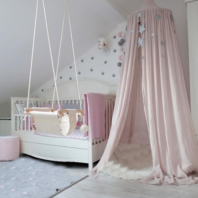 Bedcover Kids Baby Bedding Dome Bed Canopy Netting Mosquito Net Curtain for Baby Kids Reading Playing Home