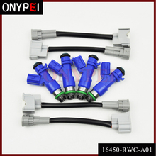 4 шт. топливный инжектор 16450-RWC-A01 для Honda Civic Acura RDX RSX K20 K24 B16 16450RWCA01