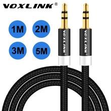 VOXLINK Audio Cable 1m 2m 3m 3 5mm Aux Headphone Cable Male to Male Audio Cable