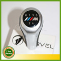 Car Styling 5 Speed Gear Shift Knob M Logo For BMW 1 3 5 6 Series X1 X3 X5 E60 E61 E62 E63 E81 E82 E83 E85 E87 E88 E90 E91