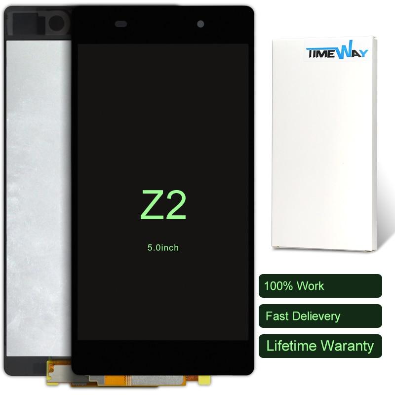 imágenes para 2 unids Para Sony Xperia Z2 L50W D6503 LCD de Pantalla Con Pantalla Táctil Digitalizador Asamblea