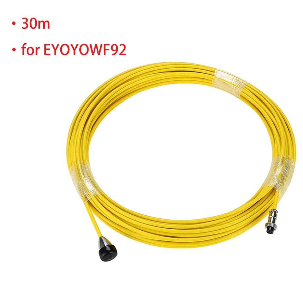 Cable de alambre de tubería de alcantarillado amarillo para el sistema de cámara de inspección de tubería de drenaje EYOYO WF92