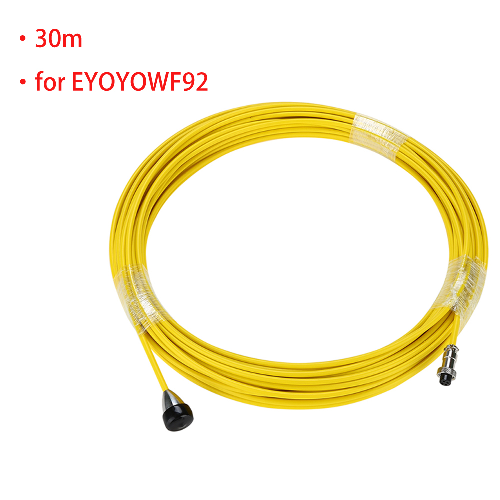 Sewer Pipe Wire Cable Yellow for EYOYO WF92 Drain Pipe Pipeline Inspection Camera System dhl free wp90 50m industrial pipeline endoscope 6 5 17 23mm snake video camera 9 lcd sewer drain pipe inspection camera system