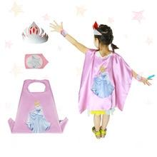 SPECIAL L 27 * barn dans kostym vacker flicka fe prinsessa kostym cape mask armband karaktär cosplay gåvor festleksaker