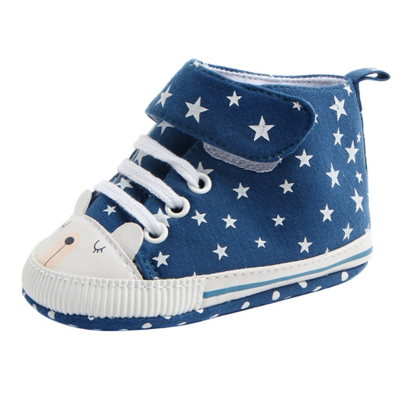 Newborn Baby Non-slip Leisure Soft Sole Star Pattern Girls Boys Toddler Autumn Anti-slip First Walkers Shoes