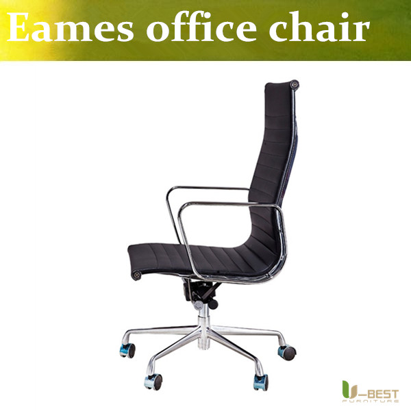 U BEST Emes Office Chair Replica Leather Soft Pad Ribbed Computer Executive Chairs home office and