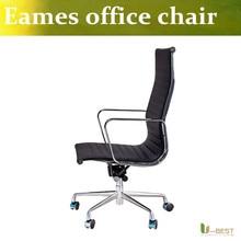 T-BEST Emes Réplica De Cuero Silla de Oficina Almohadilla Suave Acanalado Equipo Ejecutivo Sillas, silla de oficina en casa y aplicaciones comerciales