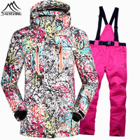 SAENSHING Waterproof 10000 Snowboarding Suits Female Ski Suit Women Super Warm Ski Winter Jackets For Girls
