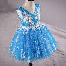Аппликации пачка девушки цветка платья для свадьбы день рождения рукавов V-образным Вырезом бальное платье, босоножки, назад pageant платья для девушки