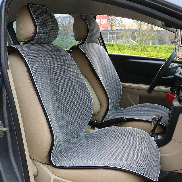 1 pc Malha Respirável tampas de assento do carro pad ajuste para a maioria dos carros/verão fresco almofada assentos de Luxo tamanho universal coxim do carro