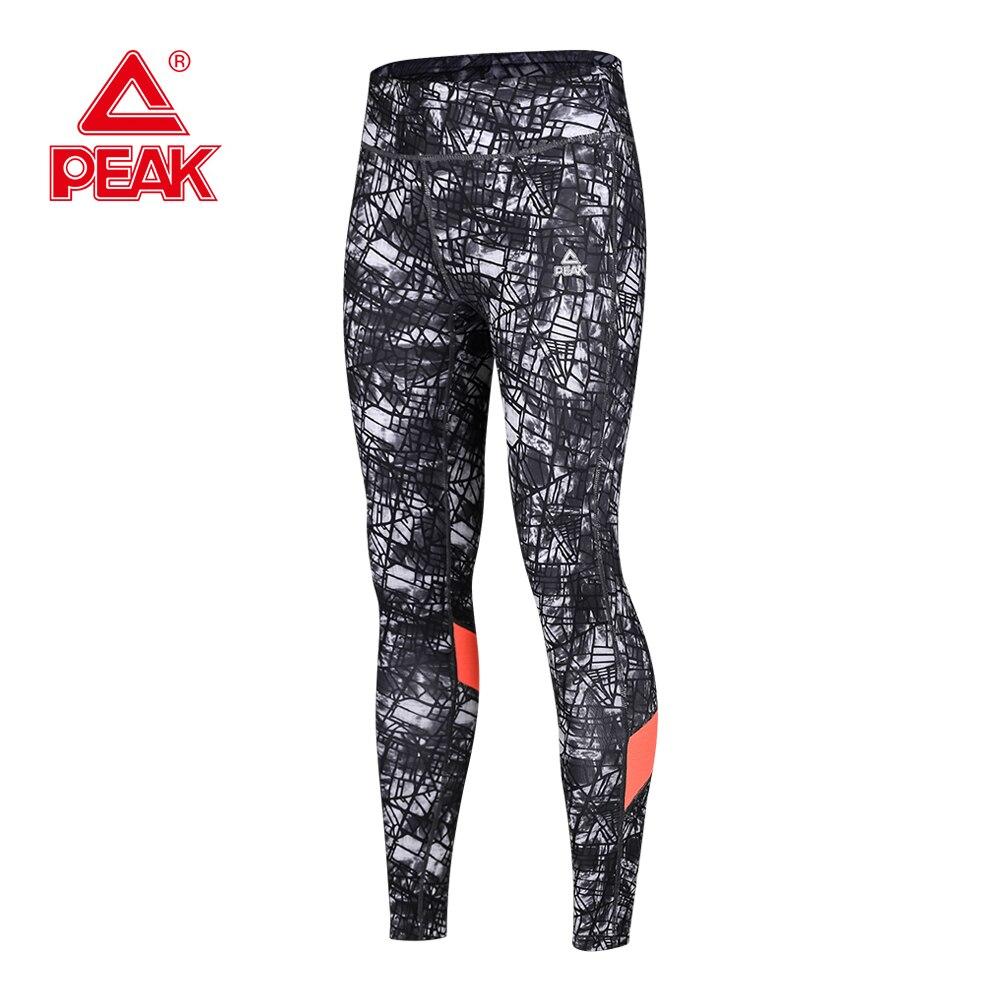 PEAK Women Running Leggings Women Fitness pants High Elasticity Sport Leggings Female Running Gym Pants Mesh Yoga Leggings велотренажер домашний oxygen fitness peak u