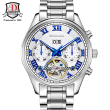 Men Mechanical Automatic Skeleton Man Male Business Clock Classic Tourbillon Self Wind Fashion Wrist Luxury Watch