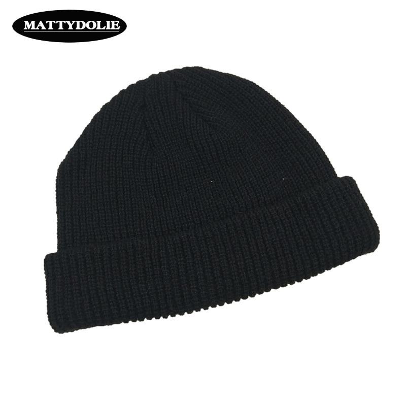 Mattydolie вязаная шапка однотонная осенне зимняя шапка мужская