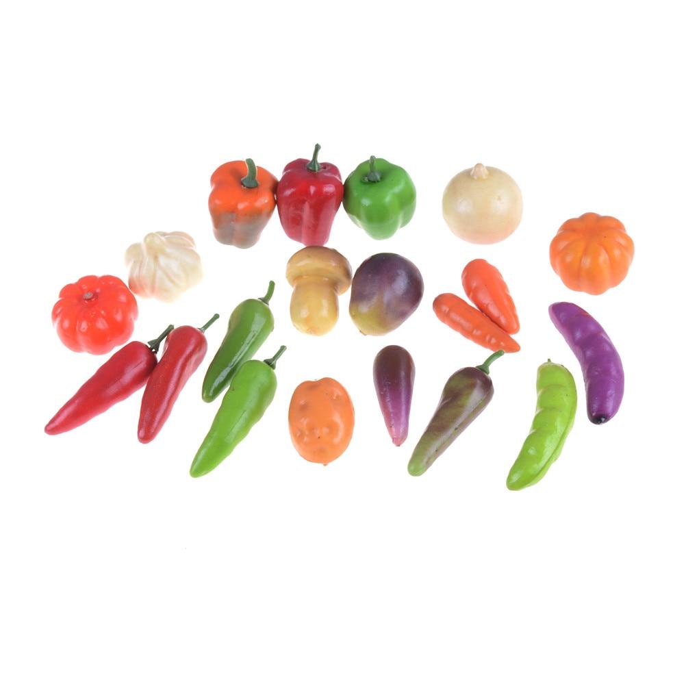 10pcs Dollhouse Miniatures Accessories Mini Fruits Vegetable Food Doll Room Doll House Kitchen Decor Kit Kitchen Toys