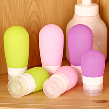 Fashion 1 PC Silicone Hot Popular Portable 38 60 80ml Refillable Bottles Mini Perfume Bottles Shampoo