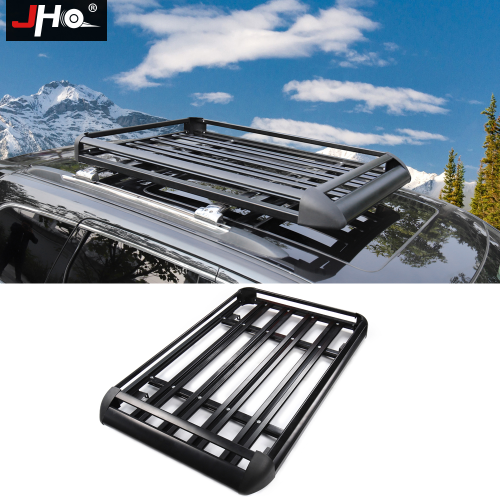 jho aluminum alloy roof rack cargo carrier luggage basket for 2011 2019 ford explorer 2014 2020 jeep grand cherokee 2016 2017 18