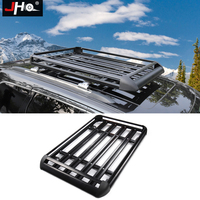 JHO Aluminum Alloy Roof Rack Cargo Carrier Luggage Basket For 2011 2018 Ford Explorer 2014 2018 Jeep Grand Cherokee 2015 2016 17