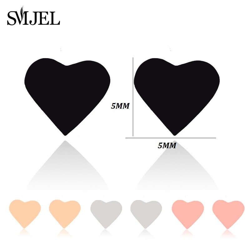 SMJEL אופנה בוהמי Vintage עגילי תכשיטי חמוד שחור גיאומטרי עגול נירוסטה Stud עגיל מתנה הטובה ביותר עבור נשים ילדה