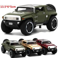 1:32 Military Alloy Hummer Alloy pull back Car SUV Model Openable door Children's Pocket Toys collection toys for kids gifts