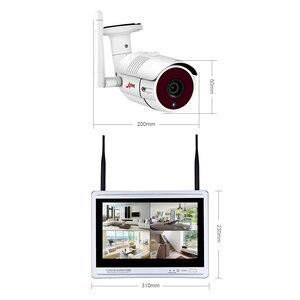 Image 4 - ANRAN 12 Zoll LCD Bildschirm 1080P 4CH WIFI NVR Kit HD 2MP Outdoor WiFi IP Wireless Security Kamera System wasserdichte Video Recorder