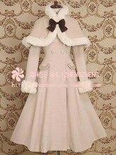 Nuevo Anime vestido de damas nuevo invierno Vintage Lolita Cosplay caliente capa encantadora 12 colores liberan el envío