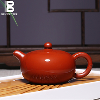 180ml Yixing Authentic Purple Clay Tea Pot Da Hong Pao Teapot Famous Pure Full Handmade Home Kung Fu Tea Set 188 Holes Kettle