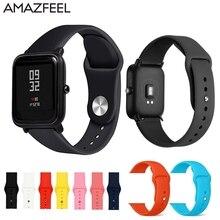 Soft Silicone Watch Strap For Xiaomi Huami Amazfit Bip Wrist Strap 20mm Watchband Bracelet For Mijia Quartz Garmin vivoactive 3