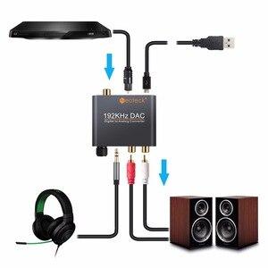 Image 3 - Neoteck cyfrowy na analogowy konwerter Audio DAC koncentryczny optyczne Toslink SPDIF do analogowe RCA 3.5mm Adapter gniazda Jack z kontrolą głośności