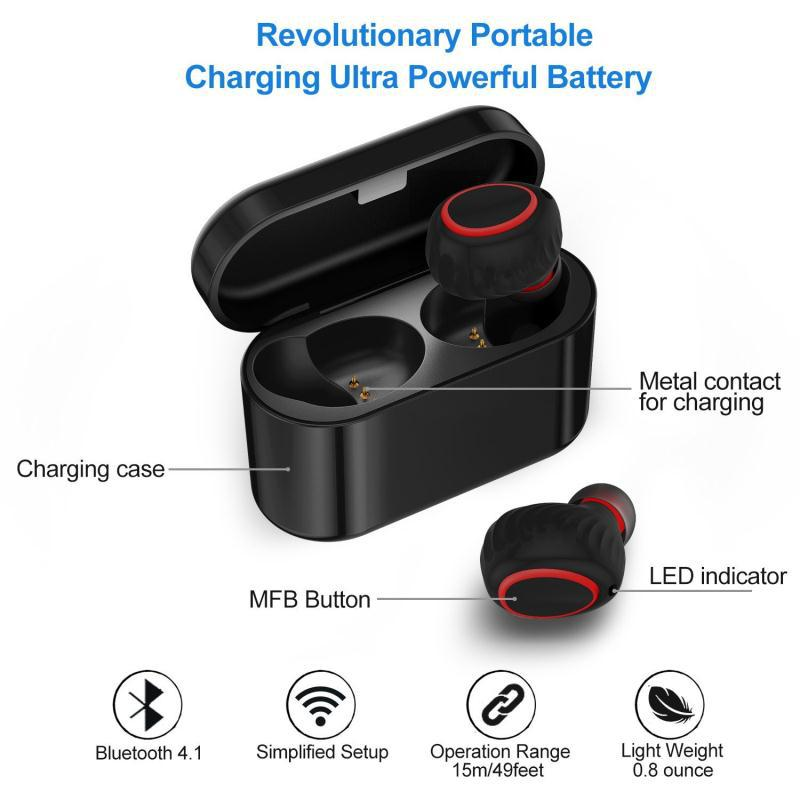 I7 4.2 Bluetooth Earphone Binaural Wireless Charger Charger TWS Bluetooth Earphone with Microphone Charger Stereo Airpods 4 (1)