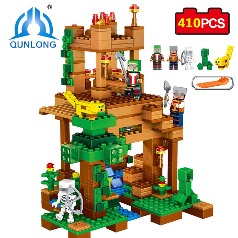 Qunlong 410pcs My World Camilla Village Minecrafted Building Blocks Sets Educational Bricks Toys For Kids Compatible Legos City qunlong 410pcs my world camilla village minecrafted building blocks sets educational bricks toys for kids compatible legos city