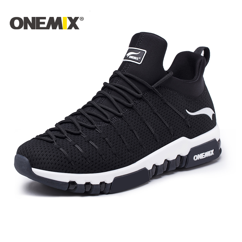 Onemix 2018 new running shoes for men hight sneakers outdoor trekking for women breathable sneakers walking running shoes men