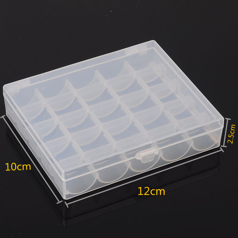 Image 5 - 25Pc Sewing Machine Bobbins Spools Empty Bobbins Spools Sewing Machine Plastic Storage Box For Home Sewing Accessories Tools-in Sewing Tools & Accessory from Home & Garden