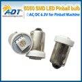 100 pcs Ba9s 5050 1SMD #44 #47 Base de Baioneta lâmpada 5050 SMD AC6.3V pinball pinball lâmpadas led não fantasmas