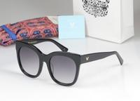 Korea High-quality Style Square Frame Glasses New Vintage Fashion Summer Cool Sunglasses Women Men V logo Luxury Brand Designer