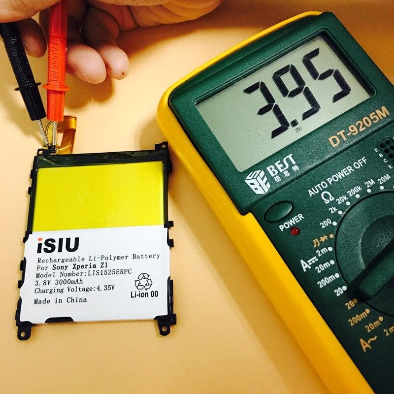 iSIU Original Battery For SONY Xperia Z1 L39H C6903 L39T L39U C6902 Z 1 Mobile <font><b>Phone</b></font> Baterai LIS1525ERPC AGPB011-A001 <font><b>3000mAh</b></font>