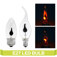 T.Y.S E27 E14 LED Lamps 3W Candle Light Bulb Flickering Effect Led Lighting Lampada Retro Vintage Edison Bulbs Indoor Lighting