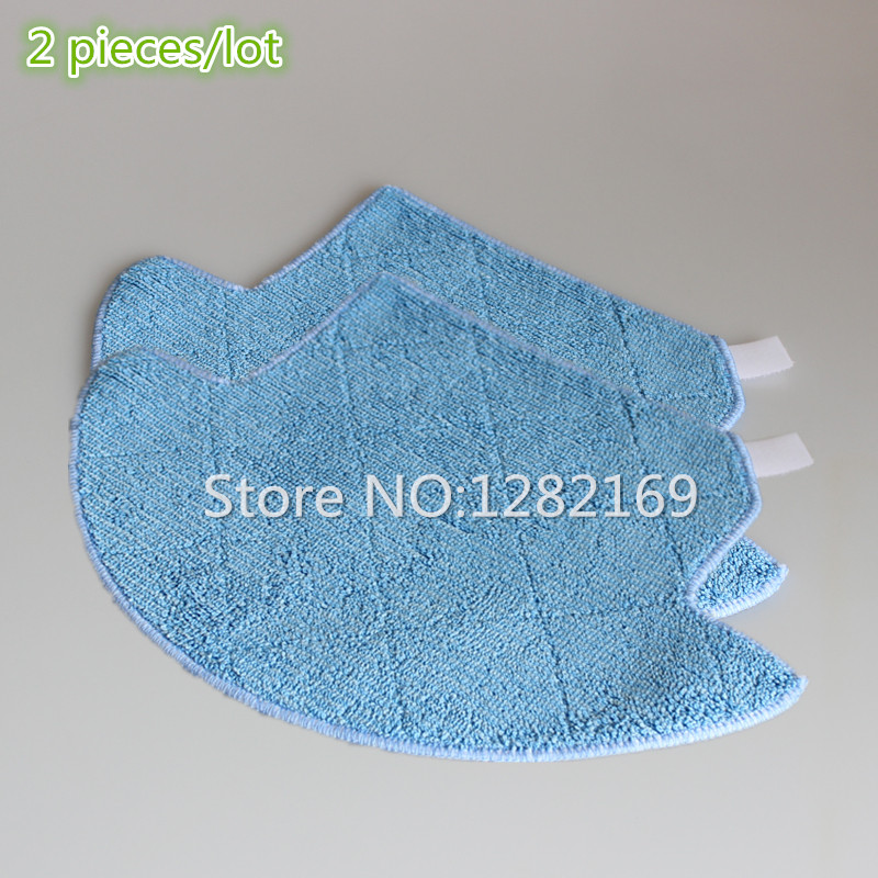 2 pieces Mop Cloth for ILIFE V7s iLife Robot Vacuum Cleaner Robotic Vacuum Cleaner for Home cleaning robot vacuum cleaner 12pcs lot high quality robot vacuum cleaner wet mop hobot168 188 window clean mop cloth weeper vacuum cleaner parts