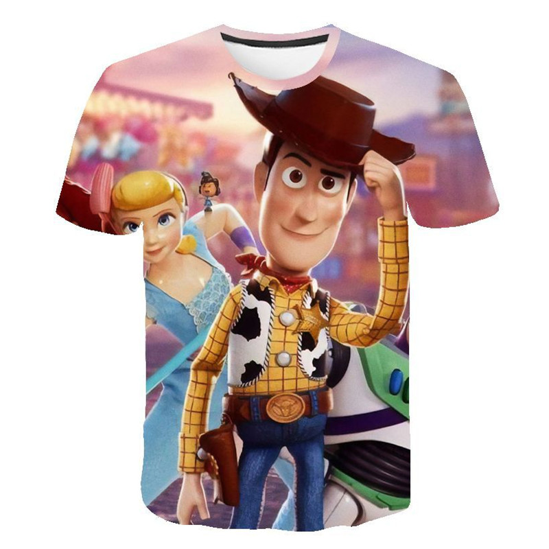 2019 New Toy Story 4 3D Printed Children T-shirt Fashion Summer Short Sleeve Kids Cartoon T Shirt(China)