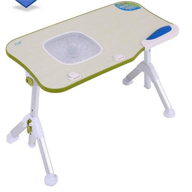 60*33 см складной стол ноутбук Портативный ленивый бытовой стол с вентилятором USB