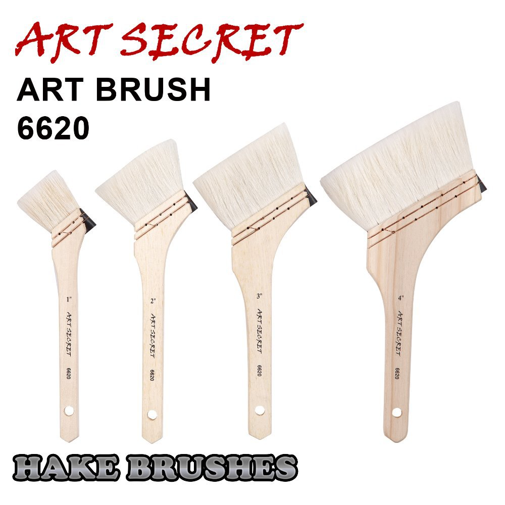 6620 Fine Goat Hair Wooden Handle Oil Acrylic Art Supplies Paint Brush