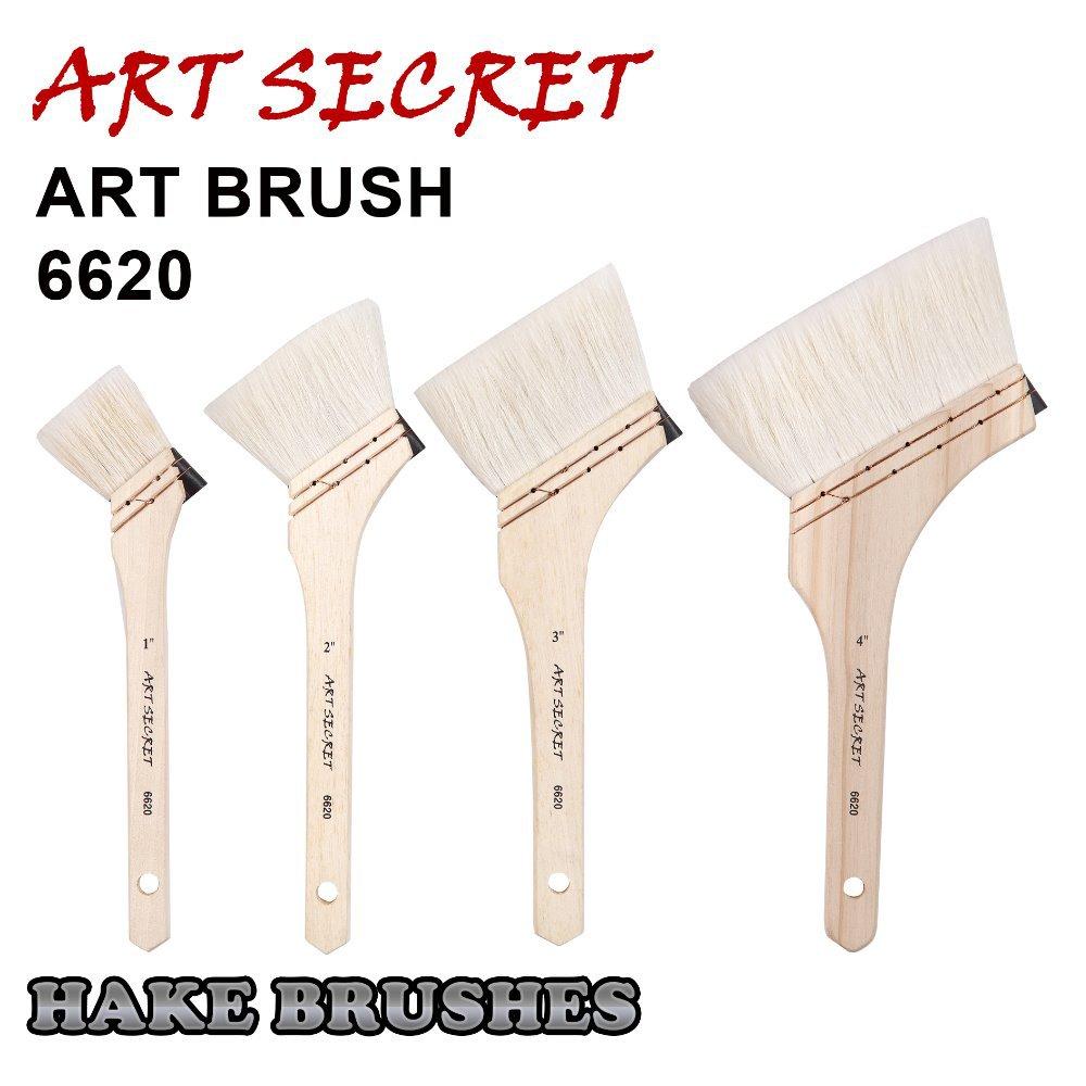 6620 Fine Goat Hair Wooden Handle Oil Acrylic Art Supplies Paint Brush