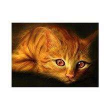 Вышивка золотой кот
