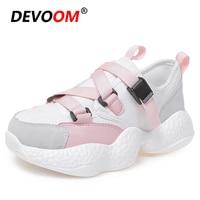 2019 Spring Shoes Ladies Flat Shoes Baskets femme White Sneakers Women Shoes Footwear Woman Zapatillas Plataforma Female Shoes