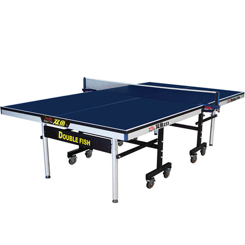Double Fish 233 ITTF Approved Official Movable Table Tennis Table With High Quality Wheels For Training And Competitions