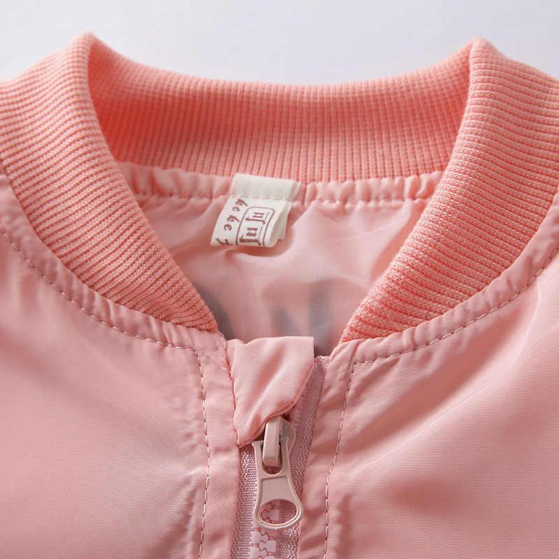 ミッキージャケット新到着服ガールズボーイズコート漫画プリントフライトジャケット秋子供服を上着