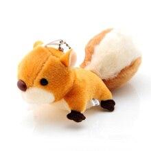 10Pcs cute little squirrel plush toys, mini squirrel pendant oversized tail key, bag ornaments.