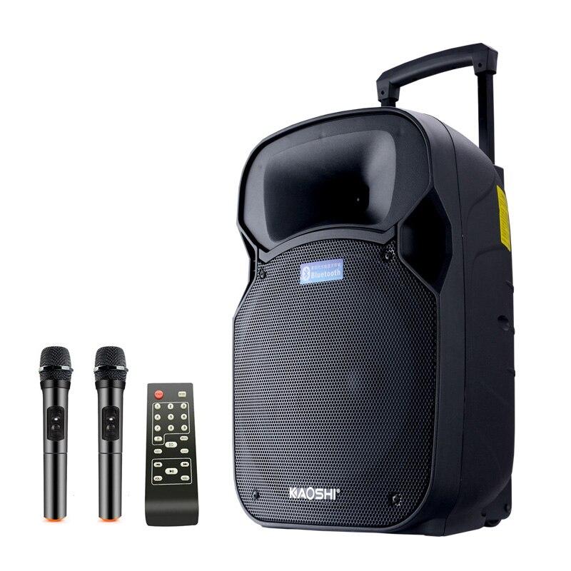 Kaoshi 12 pouce haut-parleur Extérieur haute puissance portable PA haut-parleur Bluetooth, avec télécommande, spectacle de rue, Radiocassette