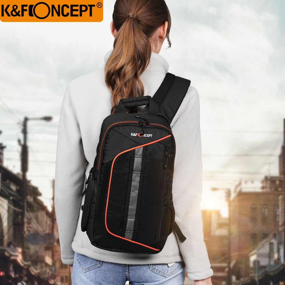 Sac à dos d'appareil photo à la mode sac à bandoulière DSLR sac étanche sacs à bandoulière de voyage + housse de pluie pour Canon Sony Nikon D3300 D7000 600d